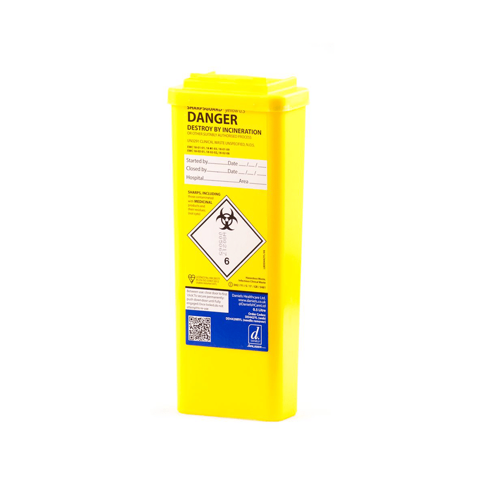 Sharps Disposal Bin 500ml