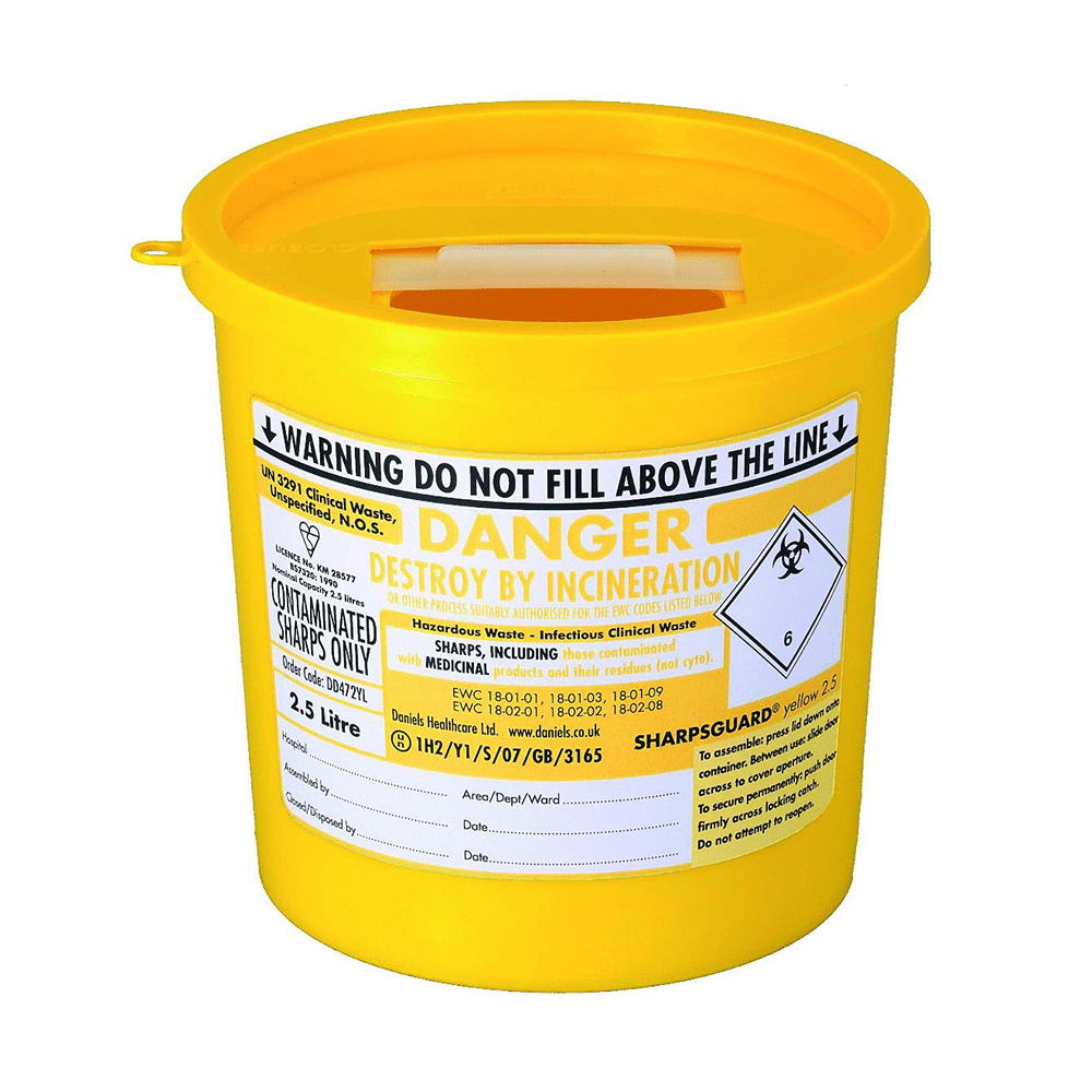 Sharps Disposal Bin 2500ml