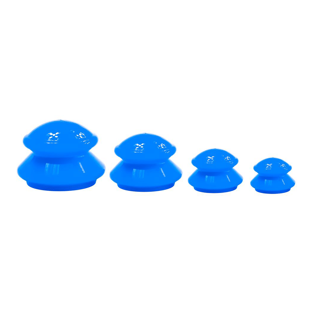 Pack of 4 Blue Silicone Cupping Jars