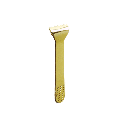 Kakibari Rake, gold plated, 39 x 13mm