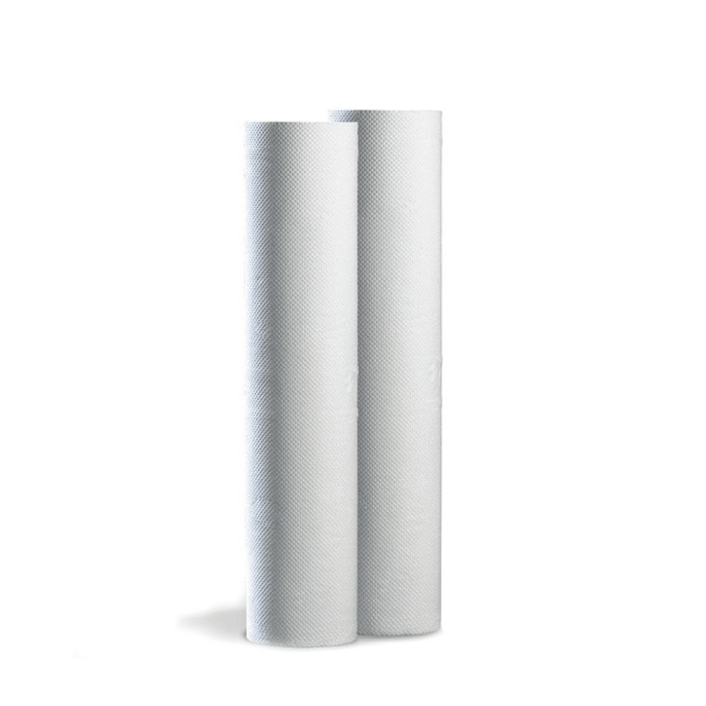 Box of 9 Embossed White Couch Rolls