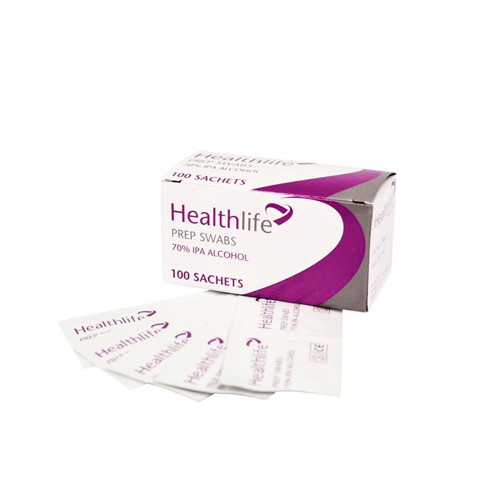 Pack of 100 Pre-Injection Swabs