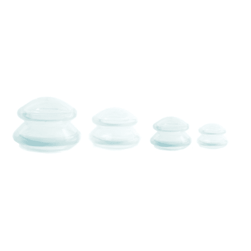 Pack of 4 Transparent Silicone Cupping Jars